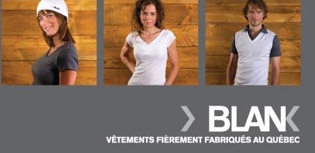 Vêtements Blank, gossés au Québec