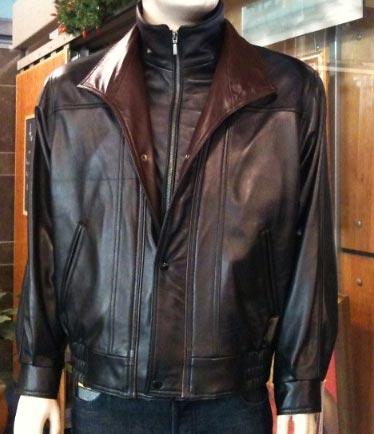 Manteau de cuir pour hommes du designer : Di Capra Prix détail : 765$ tx incluses