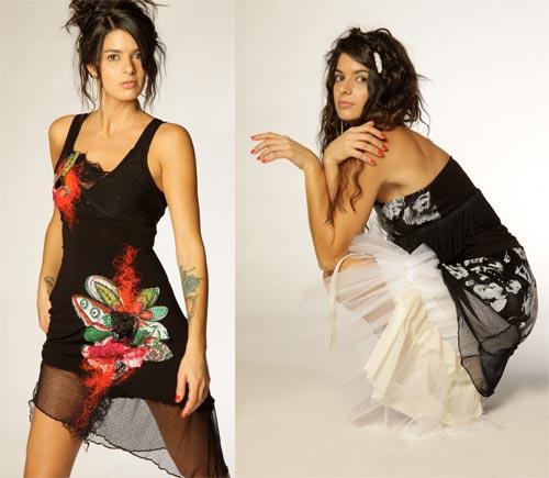 Robe printemps-ét 2011 Émilie Desmeules. Les prix varient entre 135$ et 185$.