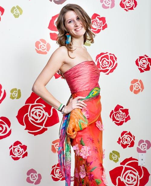 Robe « Princesse corail » de Katrin Leblond. 100% soie, pour 345$.