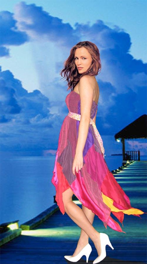 Robe de soirée en chemises de soie de Musky, 300$, taille S.