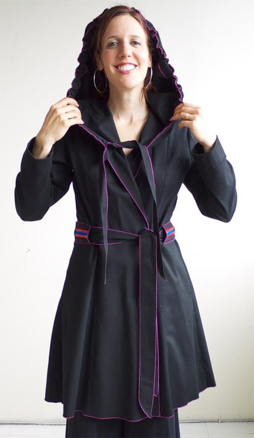 Manteau en jeans noir, Katrin Leblond